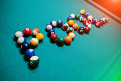 The word pool from billiard balls Stock Image