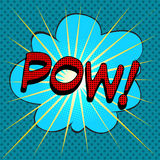 Word pow comic book style. Word pow comic book pop art retro style Royalty Free Stock Image