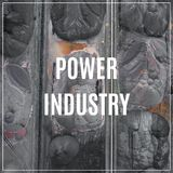 Word Power Industry. Industrial background. stock photos