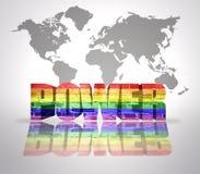 Word Power with Rainbow Gay Flag Stock Photos