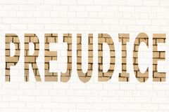 The word prejudice royalty free stock images