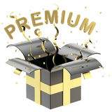Word premium inside a gift box Royalty Free Stock Image