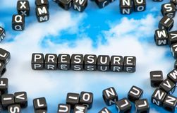The word pressure Royalty Free Stock Images