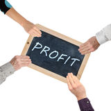 Word profit on chalkboard Royalty Free Stock Photography