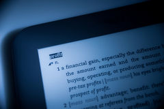 Word  Profit in dictionary Royalty Free Stock Images