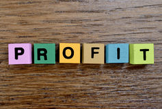 The word Profit on table Stock Photos