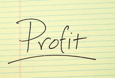 Profit On A Yellow Legal Pad Royalty Free Stock Photos