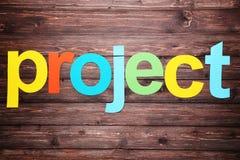 Word project royalty-vrije stock afbeeldingen