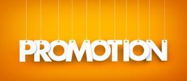 Word Promotion hanging on orange background Royalty Free Stock Image