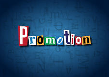 The word Promotion made from cutout letters Royalty Free Stock Photos