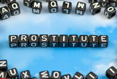 The word prostitute Stock Photography