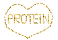 Free Word Protein Made Of Peanuts Letters Framed In A Heart Royalty Free Stock Photography - 57621477
