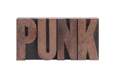 The word 'punk' Stock Photography