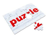 Word puzzles pertaining to the business on a white background, 3d render Royalty Free Stock Photo