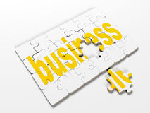 Word puzzles pertaining to the business on a white background, 3d render Royalty Free Stock Photography