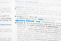 Word question Royalty Free Stock Photo