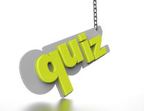 The word Quiz in green 3D Royalty Free Stock Photo