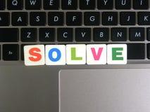 Word résolvent sur le fond de clavier Photographie stock libre de droits
