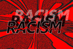 Word racism in different shades Royalty Free Stock Images