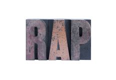 The word 'rap' Royalty Free Stock Images