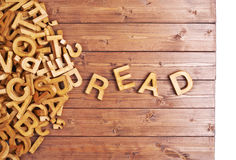 Word read made with wooden letters Royalty Free Stock Images