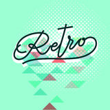 Word retro lettering Royalty Free Stock Images