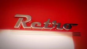 The word retro written in retro style stock footage