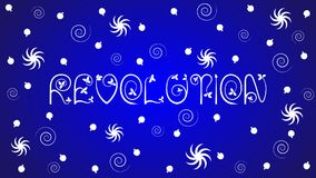 The word `Revolution` on blue background Stock Photography