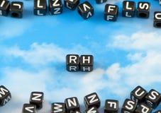 The word Rh stock photos