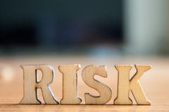 The word `risk` royalty free stock images
