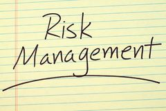Risk Management On A Yellow Legal Pad Royalty Free Stock Image