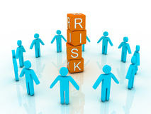 Word risk showing business Royalty Free Stock Images