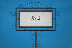 The Word Risk on a Signboard Royalty Free Stock Photography