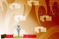 The word risks and rewards illustration Stock Images