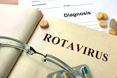 Word  Rotavirus. Stock Photo