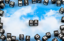 The word RX Royalty Free Stock Photography