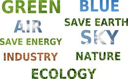 Word's concept of ecology awareness Royalty Free Stock Photography