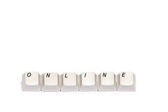 Word s'est rassemblé des boutons de clavier numérique d'ordinateur en ligne d'isolement Photographie stock