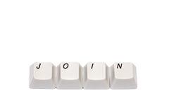 Word s'est rassemblé des boutons de clavier numérique d'ordinateur se joignent d'isolement Images libres de droits