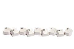 Word s'est rassemblé des boutons de clavier numérique d'ordinateur souscrivent d'isolement Images libres de droits