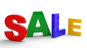 Word SALE. 3d illustration. Royalty Free Stock Photo