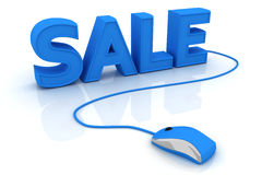 Word sale with computer mouse Royalty Free Stock Photo