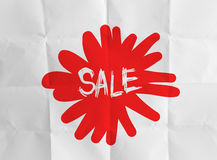 Word sale with crumpled Royalty Free Stock Images