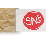 Word sale with crumpled paper Royalty Free Stock Image