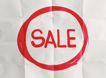 Word sale with crumpled Royalty Free Stock Photos