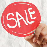 Word sale with crumpled paper Royalty Free Stock Photos