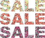 Word SALE with discount amounts Royalty Free Stock Image