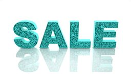 The word sale is made with blue forms with abstr Royalty Free Stock Photo