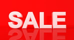 Word sale on red background. 3D Illustration Stock Photo