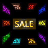 Word sale and reductions variety Stock Images